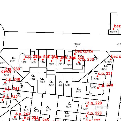 Katastrální mapa Stavební objekt Střešovice 234, Praha