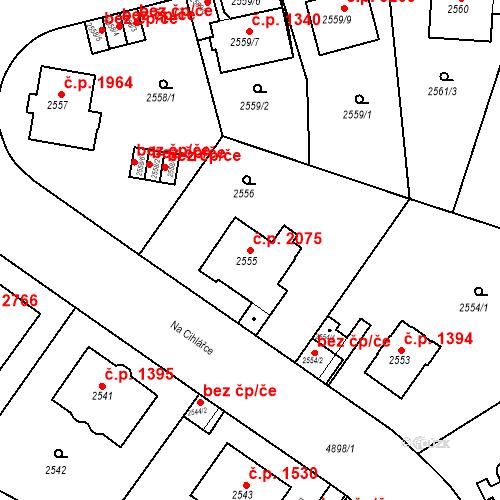 Katastrální mapa Stavební objekt Smíchov 2075, Praha