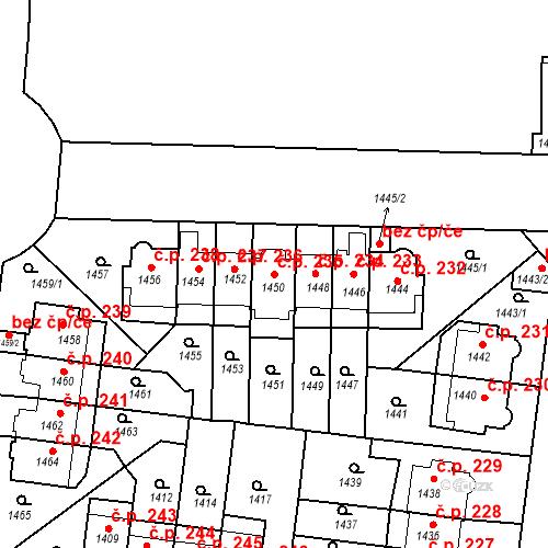 Katastrální mapa Stavební objekt Střešovice 235, Praha