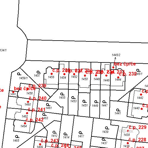 Katastrální mapa Stavební objekt Střešovice 236, Praha
