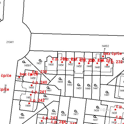 Katastrální mapa Stavební objekt Střešovice 237, Praha