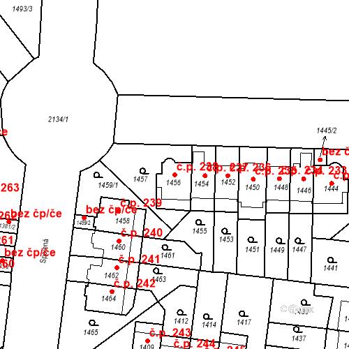 Katastrální mapa Stavební objekt Střešovice 238, Praha