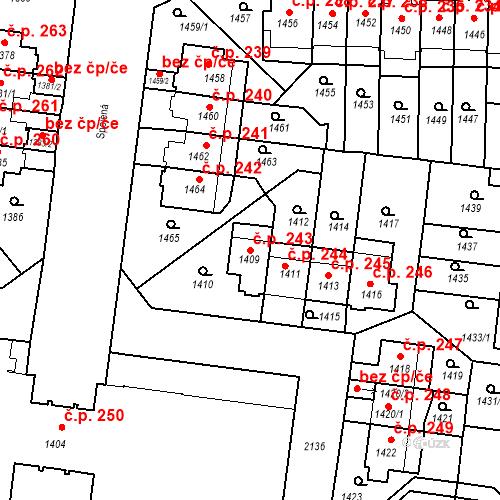 Katastrální mapa Stavební objekt Střešovice 243, Praha