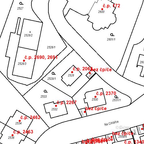 Katastrální mapa Stavební objekt Smíchov 2063, Praha