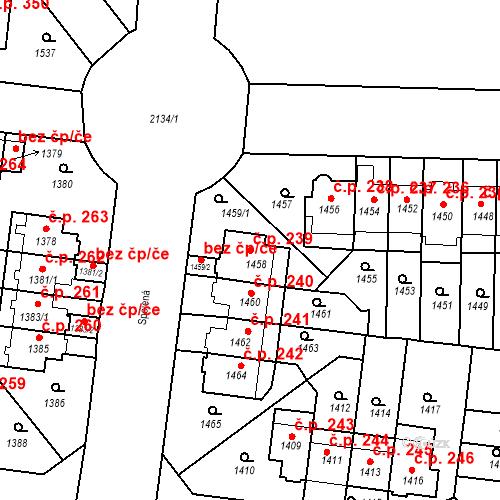 Katastrální mapa Stavební objekt Střešovice 239, Praha