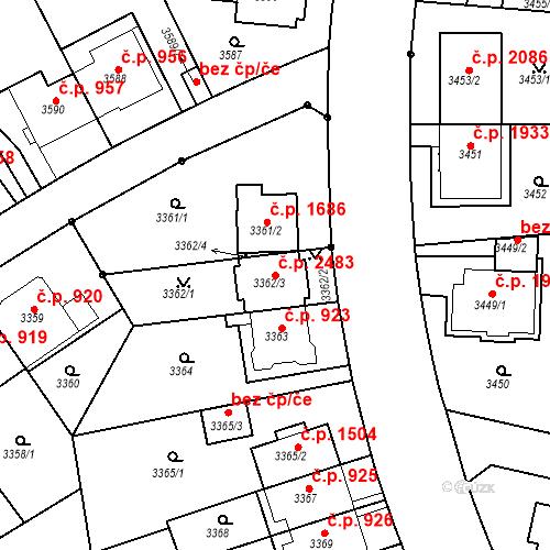 Katastrální mapa Stavební objekt Dejvice 2483, Praha