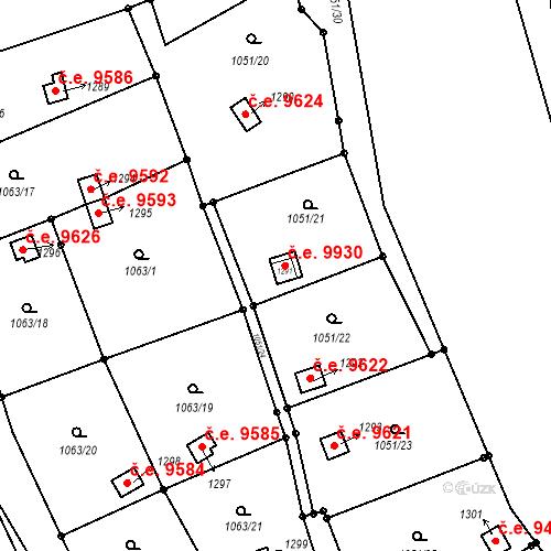 Katastrální mapa Stavební objekt Děčín III-Staré Město 9623, Děčín