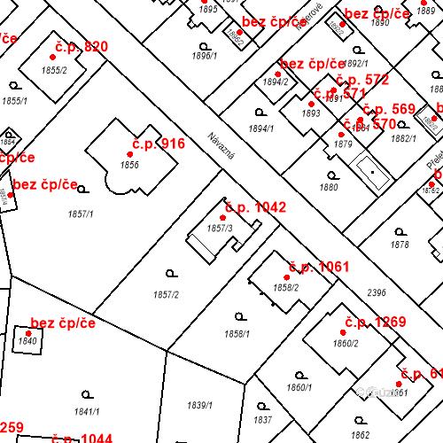 Katastrální mapa Stavební objekt Suchdol 1042, Praha