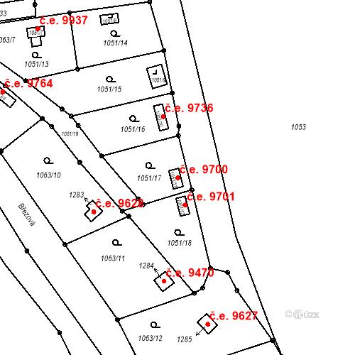 Katastrální mapa Stavební objekt Děčín III-Staré Město 9700, Děčín
