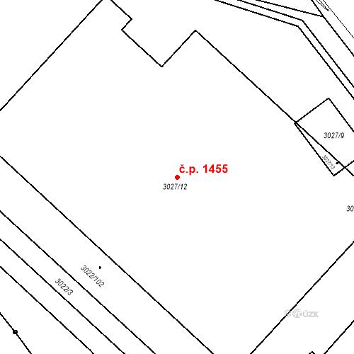 Katastrální mapa Stavební objekt Děčín II-Nové Město 1455, Děčín