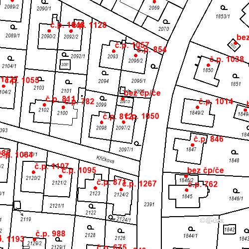 Katastrální mapa Stavební objekt Suchdol 1050, Praha