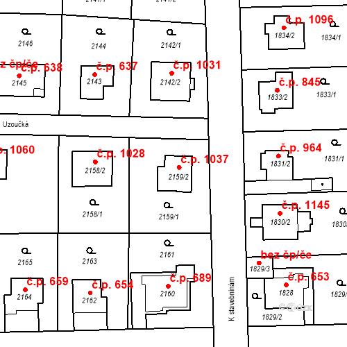 Katastrální mapa Stavební objekt Suchdol 1037, Praha