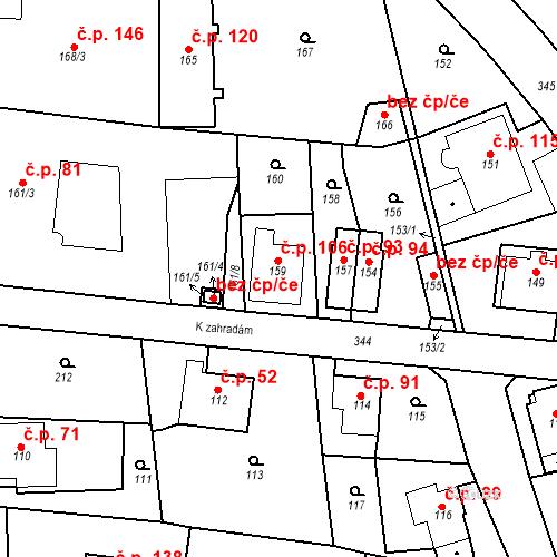Katastrální mapa Stavební objekt Lahovice 106, Praha