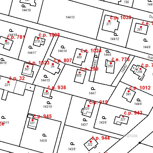 Katastrální mapa Stavební objekt Oleško 299, Březová-Oleško