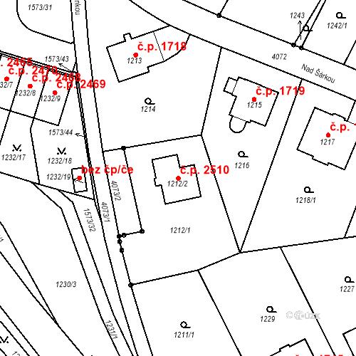 Katastrální mapa Stavební objekt Dejvice 2510, Praha