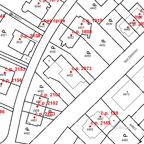 Katastrální mapa Stavební objekt Smíchov 2073, Praha
