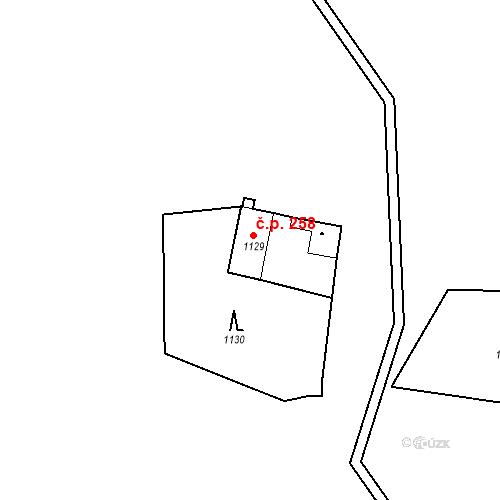 Katastrální mapa Stavební objekt Jinonice 258, Praha