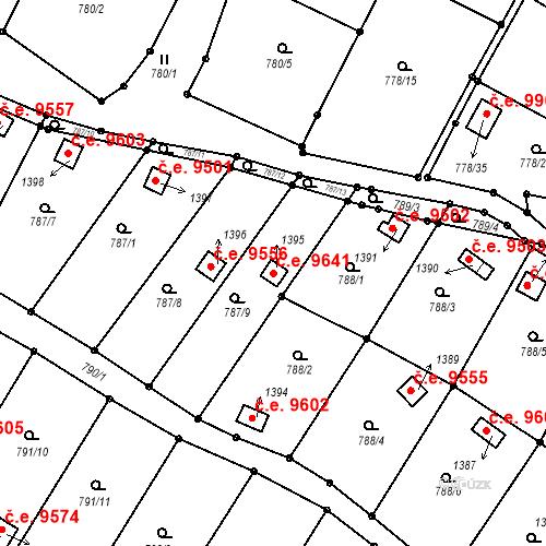 Katastrální mapa Stavební objekt Děčín III-Staré Město 9641, Děčín