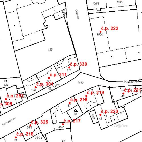 Katastrální mapa Stavební objekt Jinonice 338, Praha