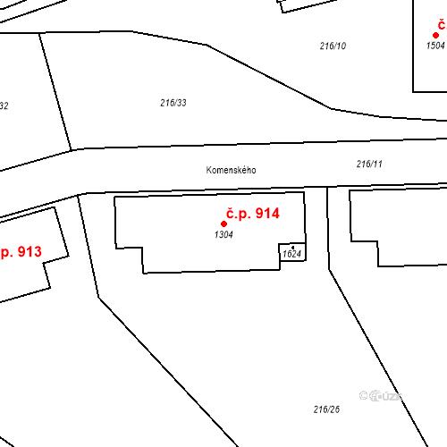 Katastrální mapa Stavební objekt Horoměřice 914, Horoměřice