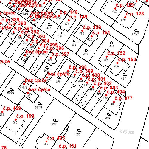 Katastrální mapa Stavební objekt Jinonice 399, Praha