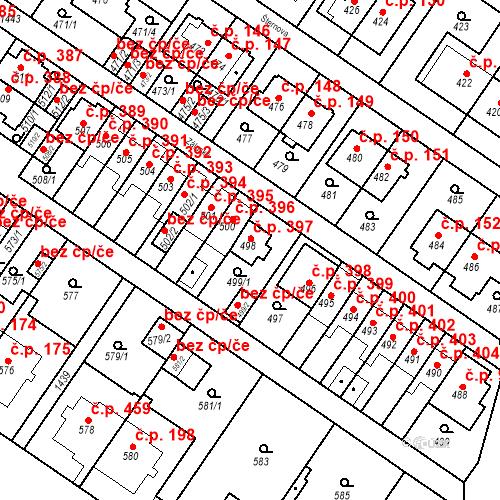 Katastrální mapa Stavební objekt Jinonice 397, Praha