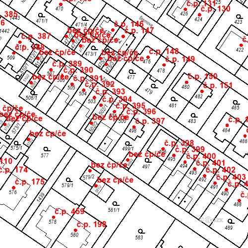 Katastrální mapa Stavební objekt Jinonice 396, Praha