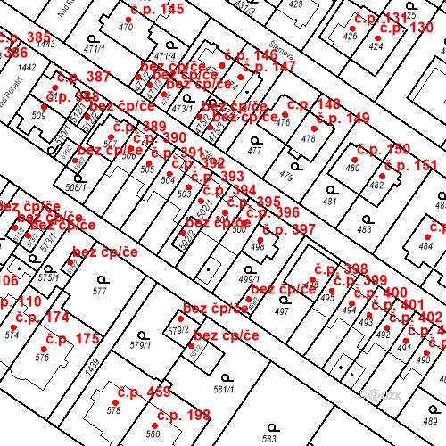 Katastrální mapa Stavební objekt Jinonice 395, Praha