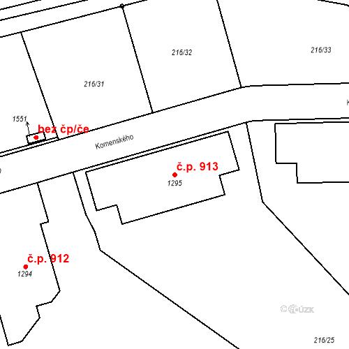 Katastrální mapa Stavební objekt Horoměřice 913, Horoměřice