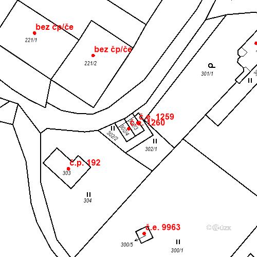 Katastrální mapa Stavební objekt Děčín XXXI-Křešice 1260, Děčín