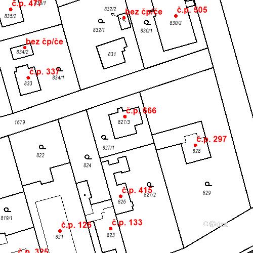 Katastrální mapa Stavební objekt Slivenec 666, Praha