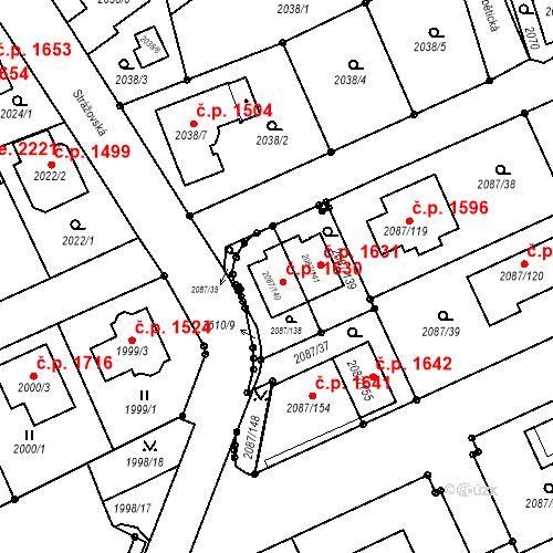 Katastrální mapa Stavební objekt Radotín 1630, Praha
