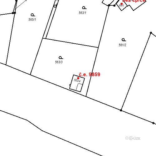 Katastrální mapa Stavební objekt Děčín XXXII-Boletice nad Labem 9859, Děčín