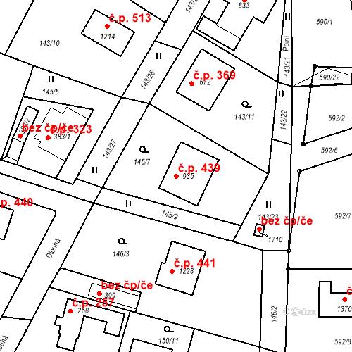Katastrální mapa Stavební objekt Vrané nad Vltavou 439, Vrané nad Vltavou