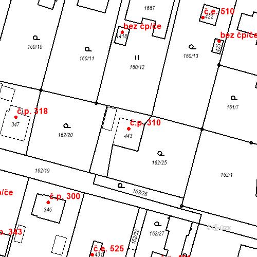 Katastrální mapa Stavební objekt Vrané nad Vltavou 310, Vrané nad Vltavou