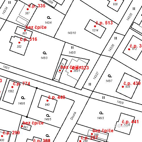 Katastrální mapa Stavební objekt Vrané nad Vltavou 323, Vrané nad Vltavou