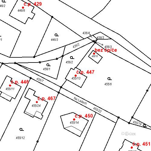 Katastrální mapa Stavební objekt Děčín XXXII-Boletice nad Labem 447, Děčín