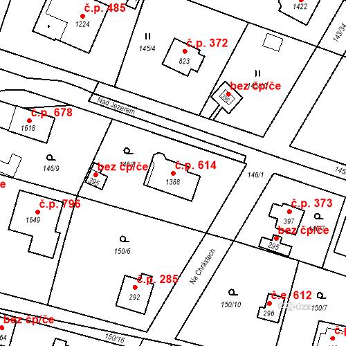 Katastrální mapa Stavební objekt Vrané nad Vltavou 614, Vrané nad Vltavou