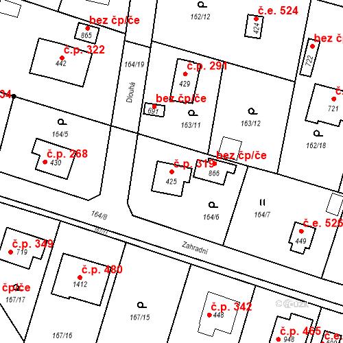 Katastrální mapa Stavební objekt Vrané nad Vltavou 319, Vrané nad Vltavou