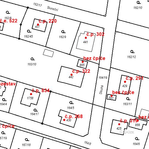 Katastrální mapa Stavební objekt Vrané nad Vltavou 322, Vrané nad Vltavou