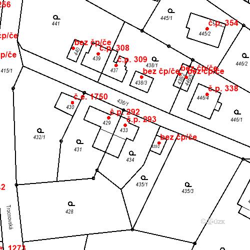 Katastrální mapa Stavební objekt Děčín XXXII-Boletice nad Labem 293, Děčín