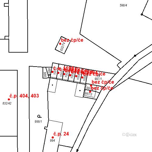 Katastrální mapa Stavební objekt Děčín XXXII-Boletice nad Labem 1594, Děčín