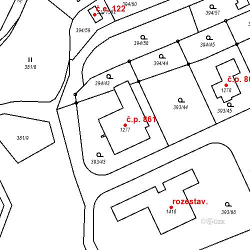 Katastrální mapa Stavební objekt Horoměřice 861, Horoměřice