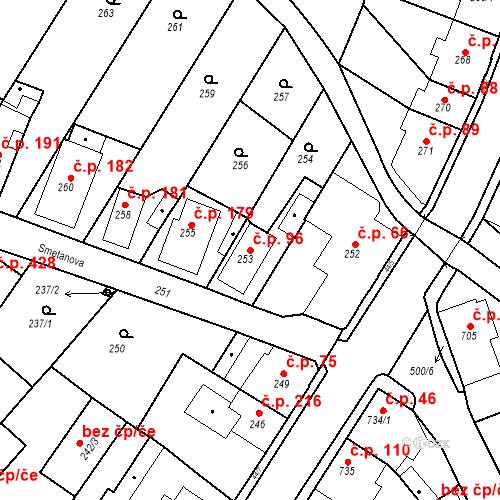 Katastrální mapa Stavební objekt Děčín XXXII-Boletice nad Labem 96, Děčín