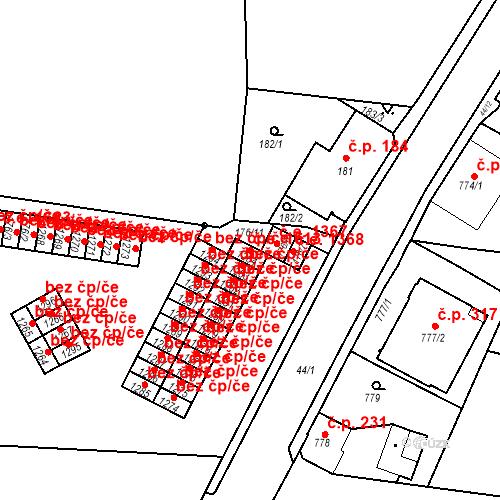 Katastrální mapa Stavební objekt Děčín XXXII-Boletice nad Labem 1613, Děčín