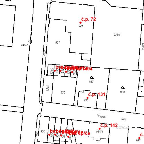 Katastrální mapa Stavební objekt Děčín XXXII-Boletice nad Labem 1494, Děčín