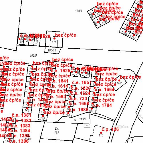 Katastrální mapa Stavební objekt Děčín XXXII-Boletice nad Labem 1653, Děčín