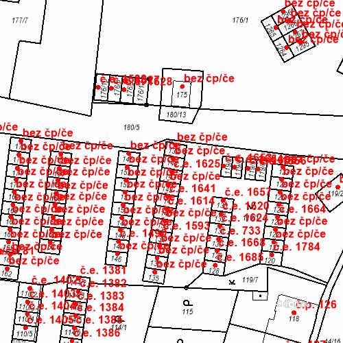 Katastrální mapa Stavební objekt Děčín XXXII-Boletice nad Labem 1625, Děčín