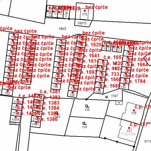 Katastrální mapa Stavební objekt Děčín XXXII-Boletice nad Labem 1593, Děčín