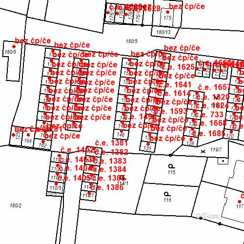 Katastrální mapa Stavební objekt Děčín XXXII-Boletice nad Labem 1490, Děčín